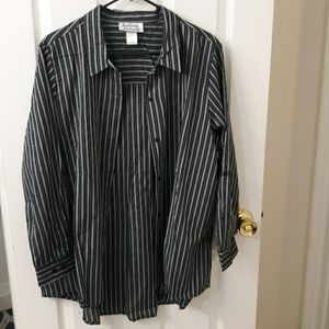 Gray and black striped blouse
